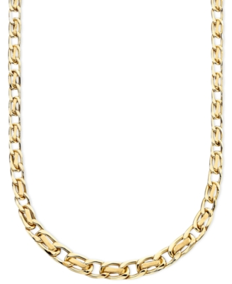 14k Gold Graduated Ribbon Necklace - Gold Necklaces