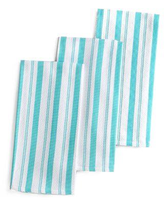 Martha Stewart Collection Pique Kitchen Towels Set Of 3