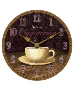 Infinity Instruments Clock, Dreamy Cappuccino