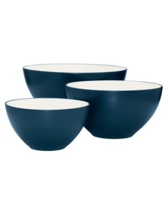 Noritake Dinnerware, Set of 3 Colorwave Blue Bowls