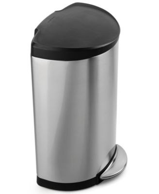 simplehuman Trash Can, Semi-Round...