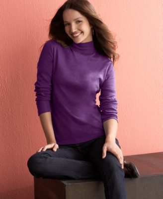 Charter Club Petite Top, Turtleneck