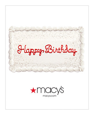 Happy Birthday Cake E Gift Card Macy S