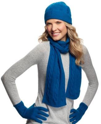 Charter Club Scarf, Cable Knit Cashmere