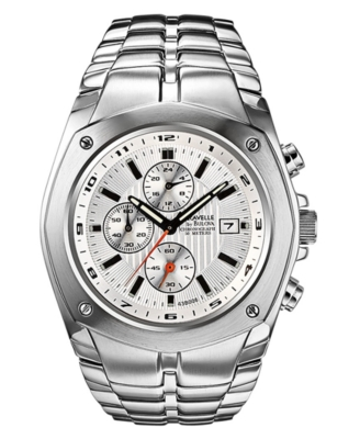 Caravelle by Bulova Watch, Men's Stainless Steel Bracelet 43B006