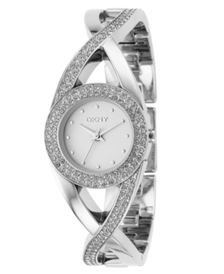 DKNY Watch, Women's Stainless Steel Crystal Accented Bracelet NY4716