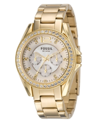 Fossil Watch, Women's Goldtone Stainless Steel Strap ES2421