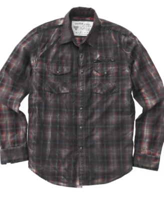 GUESS Shirt, Austin Plaid