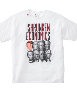Rocawear T Shirt, Shrunken Economics Graphic - Tops
