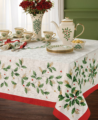 Lenox Table Linens 70 Quot Holiday Round Tablecloth Table