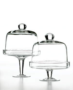 Home Essentials Mini Domed Cake Stands, Set of 2