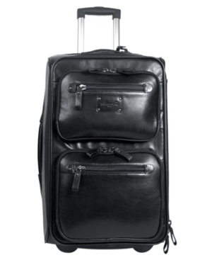 "Kenneth Cole Suitcase, 22"" Roma Leather Rolling Upright"