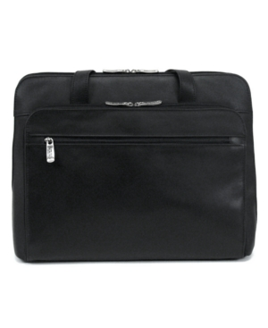 Kenneth Cole Reaction Women's Leather Laptop Brief, Manhattan Zip Portfolio