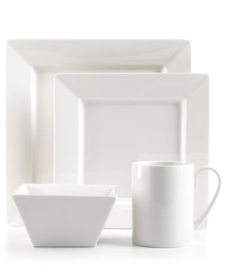 Martha Stewart Collection Dinnerware, Avenue Square 4 Piece Place Setting