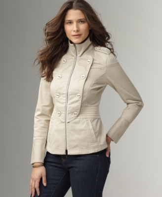DKNY Jeans Jacket, Twill Button Bib Zip