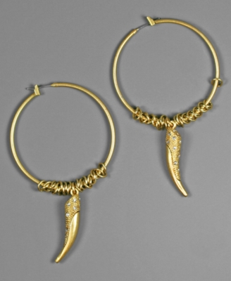 Rachel Rachel Roy Earrings, Goldtone Hoops