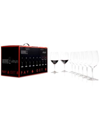 Riedel Wine Glasses, Vinum Bordeaux Pay 6 Get 8 Set