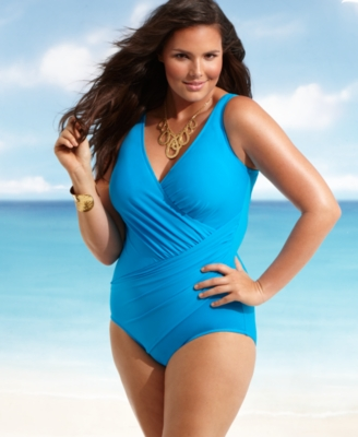 Miraclesuit Plus Size Swimsuit, Oceanus One Piece Women's Swimsuit