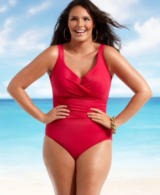 Miraclesuit Plus Size Swimsuit, Escape One Piece Women's Swimsuit