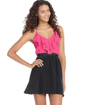 Jump Dress, Sleeveless Ruffle Top