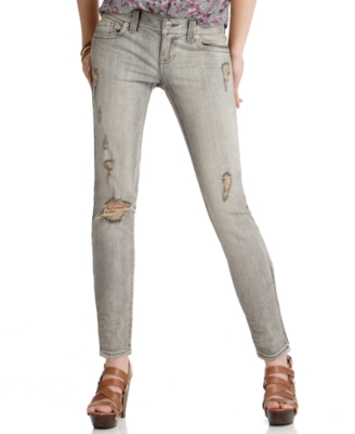 Roxy Jeans, Zip It Distressed Skinny, High Fidelity Wash