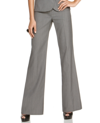 BCX Pants, Wide Waistband Flare Leg Trouser
