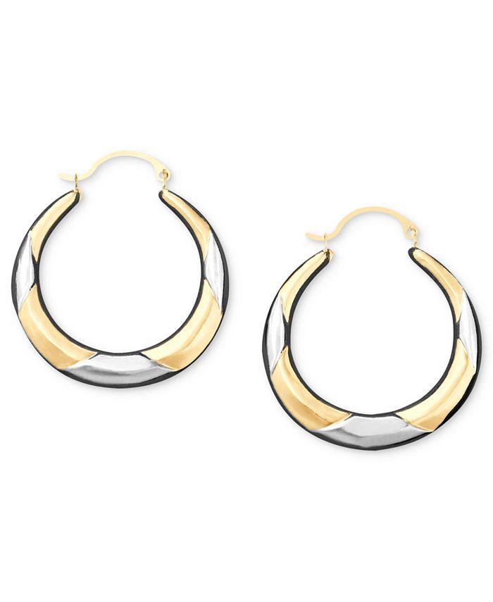 Macy's - 10k Two-Tone Gold Hoop Earrings