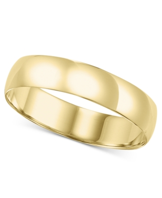 14k Gold Ring, 5 mm Comfort Fit Band (Size 8.5-13)