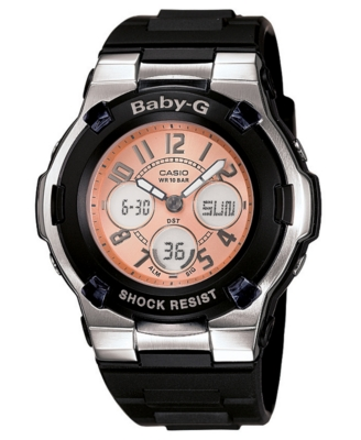 Baby-G Watch, Women's Chronograph Black Resin Strap BGA110-1B - Triathalon Watch