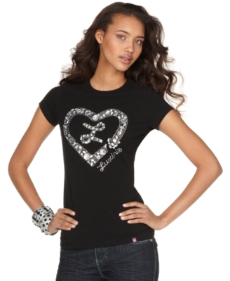 Luxirie Tee, Big Bling Heart