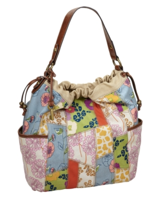 Fossil Handbag, Capri Fabric Bucket Bag