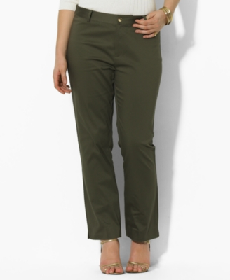 Lauren by Ralph Lauren Plus Size Pants, Camilla Stretch Cotton Ankle