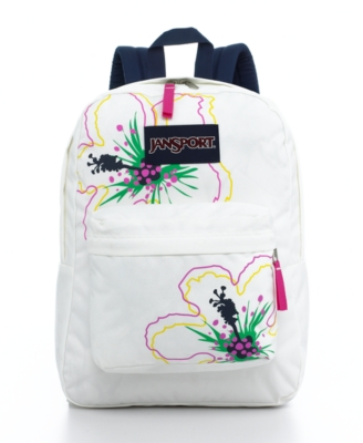 Jansport Backpack, Super G Series Tropical White