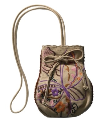 Lucky Brand Jeans Handbag, Get Laced Embroidered Canvas Crossbody Bag