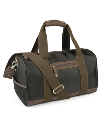 Perry Ellis Bag, Leather Trimmed Duffle Bag