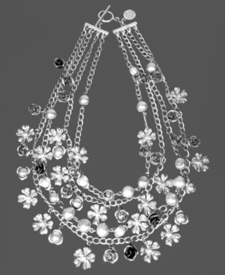 Jessica Simpson Necklace, Silvertone Multi-Chain