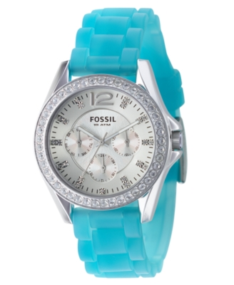 Fossil Watch, Women's Blue Silicone Strap ES2524