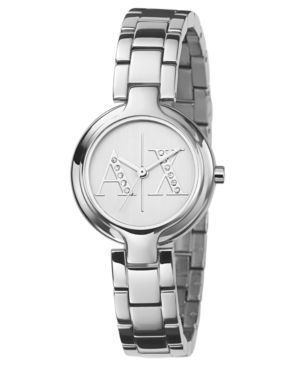 AX Armani Exchange Watch, Women's Stainless Steel Bracelet AX4060