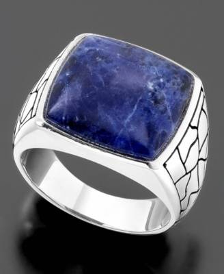 Men's Sterling Silver Ring, Sodalite