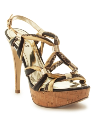 Guess Shoes, Knotted Sandals Women's Shoes - Platform Sandals