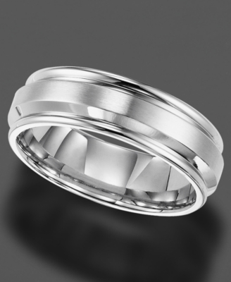 Men's Stainless Steel Ring, 7 mm Band (Size 8-15)