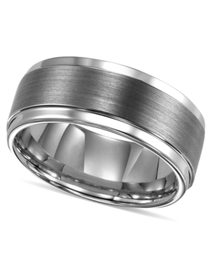 Triton Men's Ring, Tungsten Carbide Comfort Fit Wedding Band 9mm Band (Size 8-15)