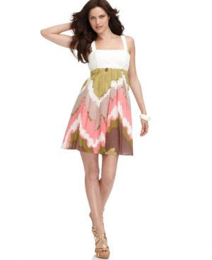 Nine West Dress, Sleeveless Ikat Skirt