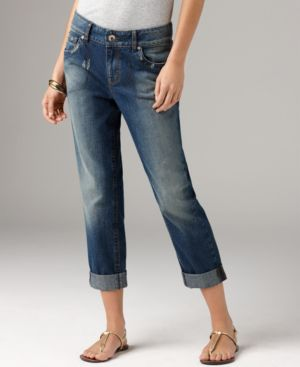 DKNY Jeans Slim Leg Jeans, Boyfriend Soho Cropped Willow Wash