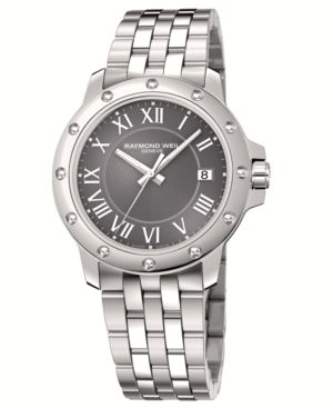 RAYMOND WEIL Watch, Men's Stainless Steel Bracelet 5599-ST-00608