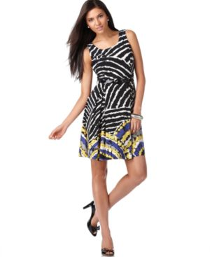 Nine West Dress, Belted A-line Dress