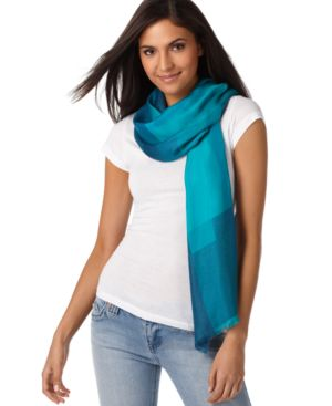 Charter Club Scarf, Colorblock Jaquard - Charter Club
