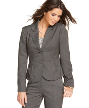 Tahari by ASL Suit, Ruched Jacket & Pant Set