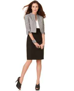 Calvin Klein Suit, Colorblocked Sheath Dress & Bolero