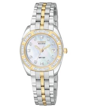 Citizen Women's Eco-Drive Two-Tone Stainless Steel Bracelet Watch 27mm EW1594-55D